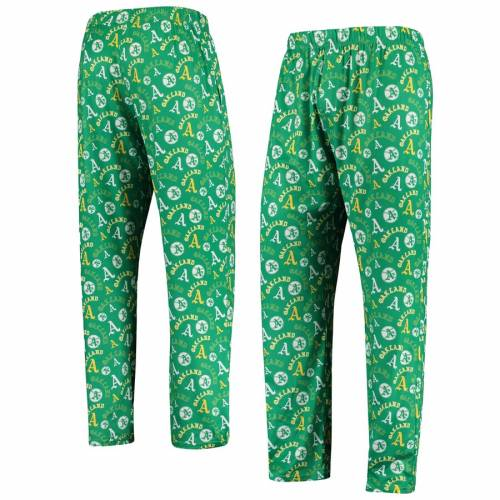 FOREVER COLLECTIBLES オークランド 【 OAKLAND ATHLETICS RETRO REPEAT PANTS GREEN 】 インナー 下着 ナイトウエア メンズ ナイト ルーム パジャマ 送料無料