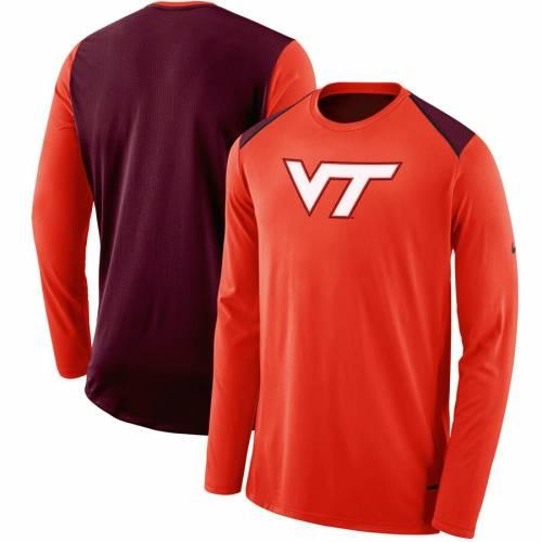 ナイキ NIKE バージニア テック エリート バスケットボール パフォーマンス スリーブ 橙 オレンジ メンズファッション トップス Tシャツ カットソー メンズ 【 Virginia Tech Hokies 2017-2018 Elit
