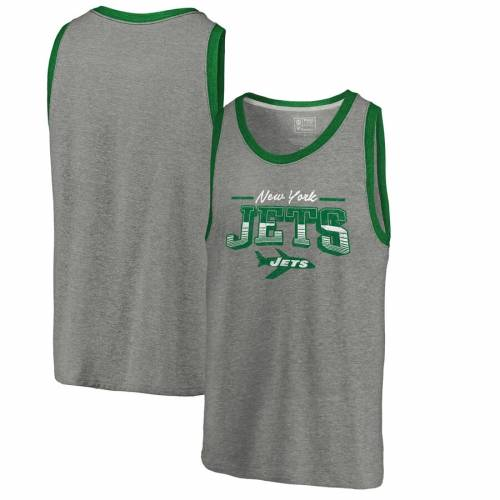 NFL PRO LINE BY FANATICS BRANDED プロ ジェッツ コレクション タンクトップ 灰色 グレー グレイ 【 NFL JETS GRAY PRO LINE BY FANATICS BRANDED NEW YORK THROWBACK COLLECTION SEASON TICKET TRIBLEND TANK TOP HEATHERED 】 メン