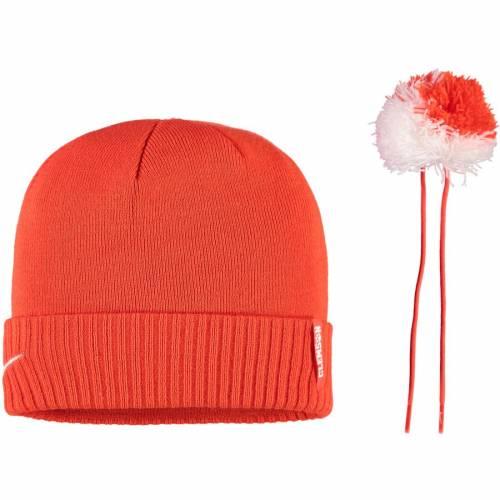 ナイキ NIKE タイガース サイドライン ニット 橙 オレンジORANGE NIKE CLEMSON TIGERS SIDELINE CUFFED KNIT HAT WITH REMOVABLE POMバッグキャップ 帽子 メンズキャップ 帽子YeWD9EHI2b