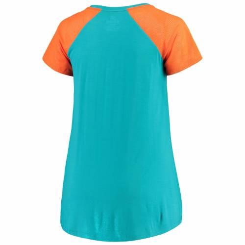 NFL PRO LINE BY FANATICS BRANDED マイアミ ドルフィンズ レディース ビクトリー Tシャツ レディースファッション トップス カットソー 【 Miami Dolphins Fanatics Branded Womens Shining Victory Plus Size T-shirt -