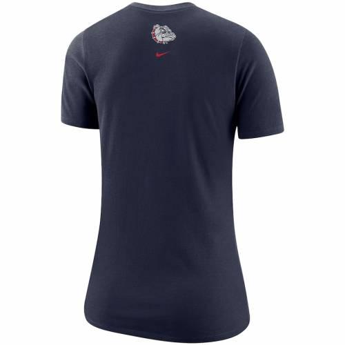ナイキ NIKE ゴンザガ レディース Tシャツ 紺 ネイビー レディースファッション トップス カットソー 【 Gonzaga Bulldogs Womens Student Body Fan T-shirt - Navy 】 Navy