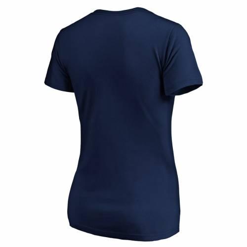 PROFILE ヒューストン アストロズ レディース オーセンティック ブイネック Tシャツ 紺 ネイビー レディースファッション トップス カットソー 【 Houston Astros Womens 2019 Postseason Plus Size Dugout