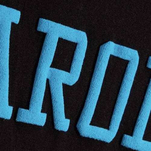G-III 4HER BY CARL BANKS カロライナ パンサーズ レディース フライト クロップ スリーブ Tシャツ 黒 ブラック レディースファッション トップス カットソー 【 Carolina Panthers Womens Flight Song Crop