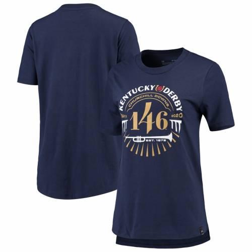 アンダーアーマー UNDER ARMOUR ケンタッキー レディース パフォーマンス Tシャツ 紺 ネイビー レディースファッション トップス カットソー 【 Kentucky Derby 146 Womens Performance T-shirt - Navy 】 N
