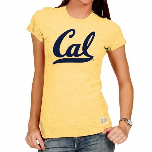 ORIGINAL RETRO BRAND ベアーズ レディース Tシャツ 黄色 イエロー レディースファッション トップス カットソー 【 Cal Bears Womens Tri-blend Crew Neck T-shirt - Yellow 】 Yellow