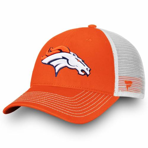 NFL PRO LINE BY FANATICS BRANDED デンバー ブロンコス コア トラッカー スナップバック バッグ キャップ 帽子 メンズキャップ メンズ 【 Denver Broncos Core Trucker Iii Adjustable Snapback Hat - Orange/white 】