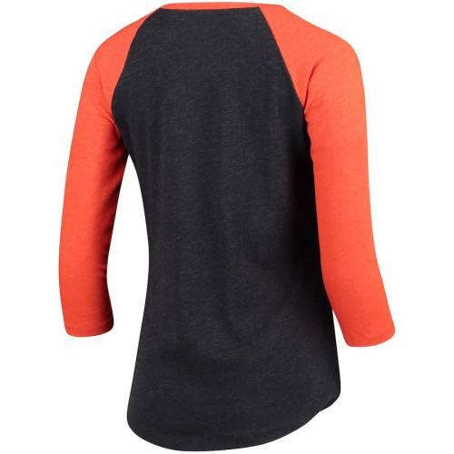 '47 ジャイアンツ レディース クラブ ラグラン Tシャツ 黒 ブラック レディースファッション トップス カットソー 【 San Francisco Giants Womens Club 3/4-sleeve Raglan T-shirt - Heathered Black 】 Heathered