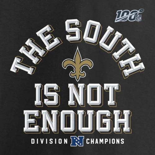 NFL PRO LINE BY FANATICS BRANDED プロ セインツ Tシャツ 黒 ブラック & 【 NFL BLACK PRO LINE BY FANATICS BRANDED NEW ORLEANS SAINTS 2019 NFC SOUTH DIVISION CHAMPIONS BIG TALL COVER TWO TSHIRT 】 メンズファッション トッ