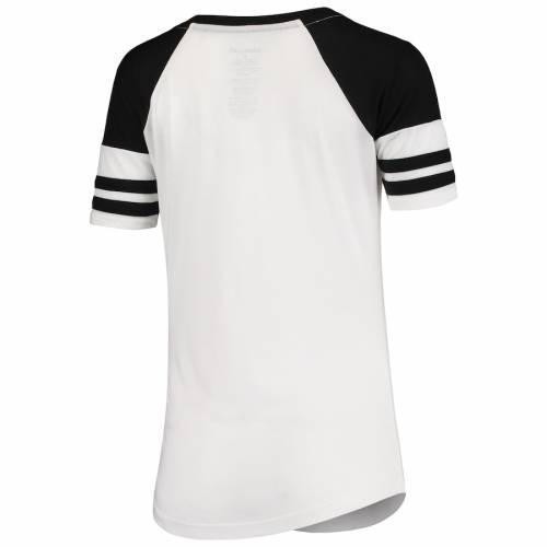 BOXERCRAFT テキサス レディース ラグラン ブイネック Tシャツ レディースファッション トップス カットソー 【 Texas Aandm Aggies Womens Raglan Essential Arena V-neck T-shirt - White/black 】 White/black