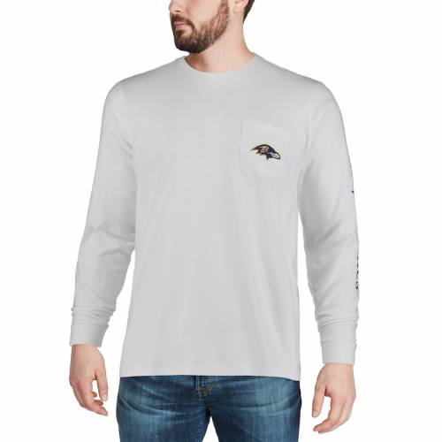 VINEYARD VINES ボルティモア レイブンズ Tシャツ 白 ホワイト 【 WHITE VINEYARD VINES BALTIMORE RAVENS EVERY DAY SHOULD FEEL THIS GOOD TSHIRT 】 メンズファッション トップス Tシャツ カットソー