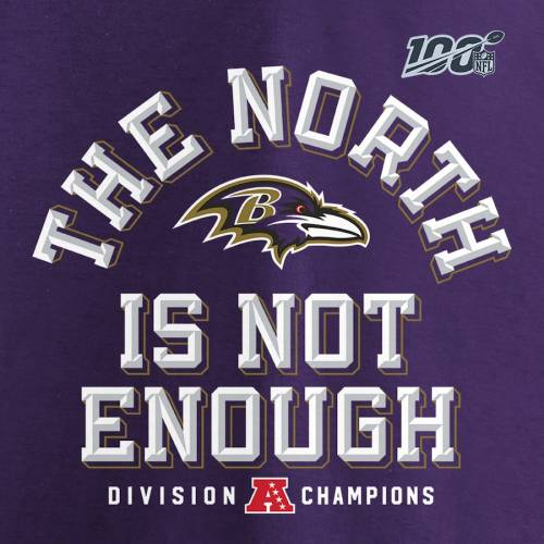 NFL PRO LINE BY FANATICS BRANDED プロ ボルティモア レイブンズ ノース Tシャツ 紫 パープル & 【 NFL PURPLE PRO LINE BY FANATICS BRANDED BALTIMORE RAVENS 2019 AFC NORTH DIVISION CHAMPIONS BIG TALL TSHIRT 】 メンズフ