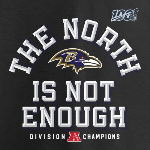 NFL PRO LINE BY FANATICS BRANDED プロ ボルティモア レイブンズ ノース スリーブ Tシャツ 黒 ブラック 【 NFL SLEEVE BLACK PRO LINE BY FANATICS BRANDED BALTIMORE RAVENS 2019 AFC NORTH DIVISION CHAMPIONS COVER TWO LONG TSHIRT
