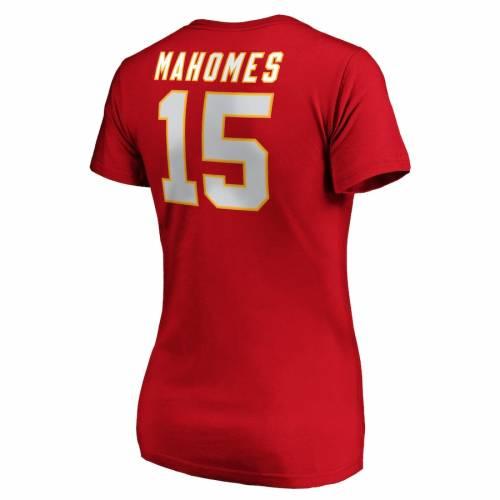 NFL PRO LINE BY FANATICS BRANDED カンザス シティ チーフス レディース オーセンティック ブイネック Tシャツ 赤 レッド レディースファッション トップス カットソー 【 Patrick Mahomes Kansas City Chi
