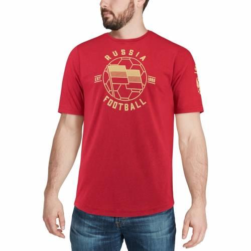 アディダス ADIDAS チーム アイコン Tシャツ 赤 レッド 【 TEAM RED ADIDAS RUSSIA NATIONAL TRIBLEND LINEAR ICON TSHIRT 】 メンズファッション トップス Tシャツ カットソー