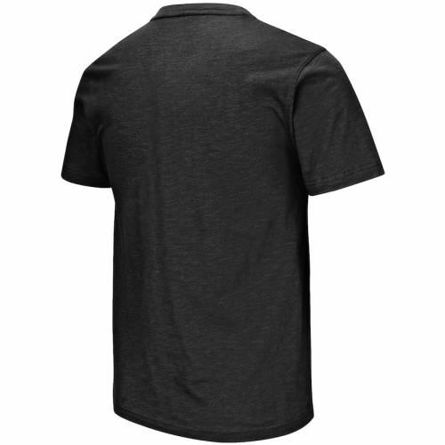 COLOSSEUM ウィスコンシン チーム Tシャツ 黒 ブラック 【 TEAM BLACK COLOSSEUM WISCONSIN BADGERS BAR TSHIRT 】 メンズファッション トップス Tシャツ カットソー