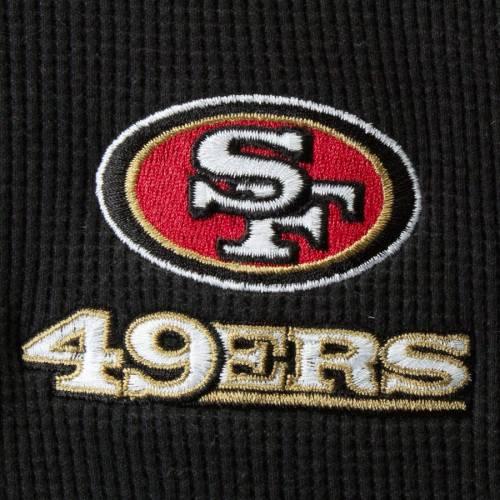DUNBROOKE フォーティーナイナーズ ヘンリー スリーブ Tシャツ 黒 ブラック メンズファッション トップス カットソー メンズ 【 San Francisco 49ers Maverick Thermal Henley Long Sleeve T-shirt - Black 】 Blac