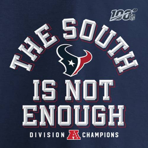 NFL PRO LINE BY FANATICS BRANDED プロ ヒューストン テキサンズ スリーブ Tシャツ 紺 ネイビー 【 NFL SLEEVE NAVY PRO LINE BY FANATICS BRANDED HOUSTON TEXANS 2019 AFC SOUTH DIVISION CHAMPIONS COVER TWO LONG TSHIRT 】 メン