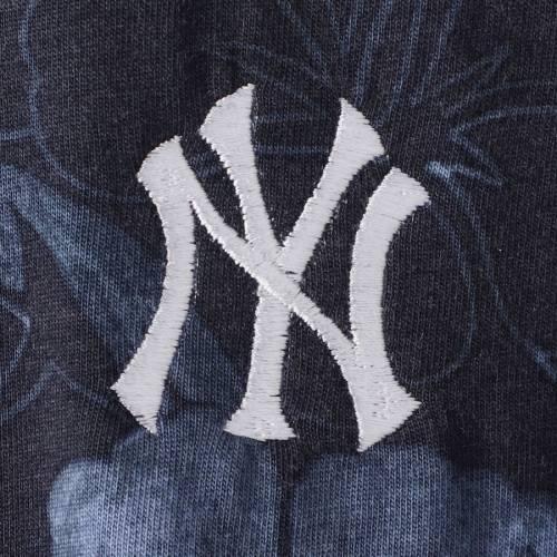TOMMY BAHAMA ヤンキース レディース Tシャツ 紺 ネイビー レディースファッション トップス カットソー 【 New York Yankees Womens Peeky Fronds Seaport T-shirt - Navy 】 Navy
