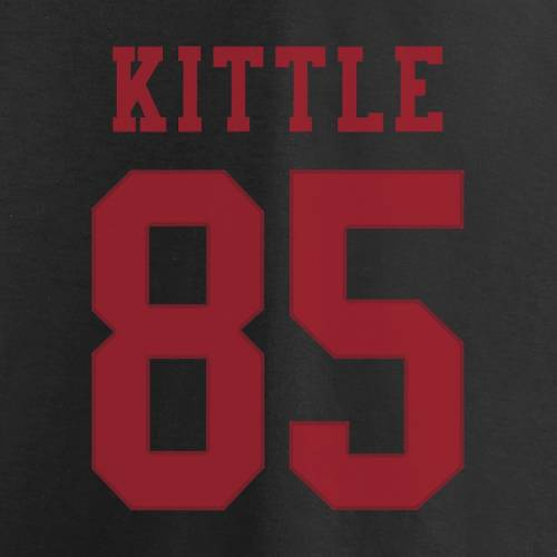 NFL PRO LINE BY FANATICS BRANDED プロ フォーティーナイナーズ Tシャツ 黒 ブラック & 【 NFL BLACK PRO LINE BY FANATICS BRANDED GEORGE KITTLE SAN FRANCISCO 49ERS SUPER BOWL LIV BOUND HALFBACK PLAYER NAME NUMBER TSHIRT 】 メ