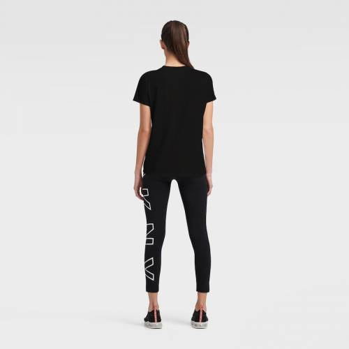DKNY SPORT デトロイト タイガース レディース Tシャツ 黒 ブラック レディースファッション トップス カットソー 【 Detroit Tigers Womens The Abbigail T-shirt - Black 】 Black
