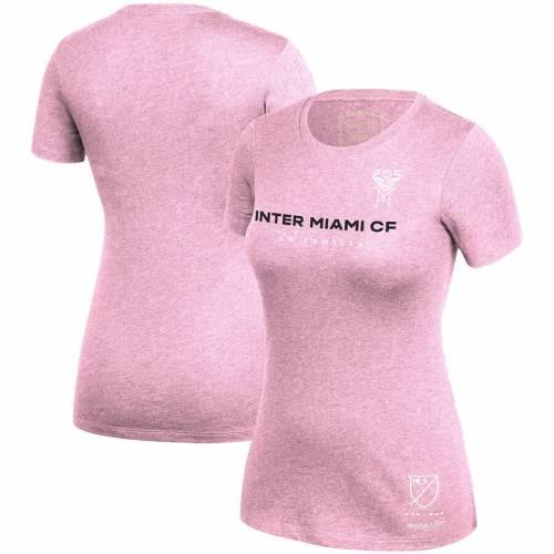 ミッチェル&ネス MITCHELL & NESS マイアミ レディース Tシャツ ピンク レディースファッション トップス カットソー 【 Inter Miami Cf Mitchell And Ness Womens T-shirt - Pink 】 Pink