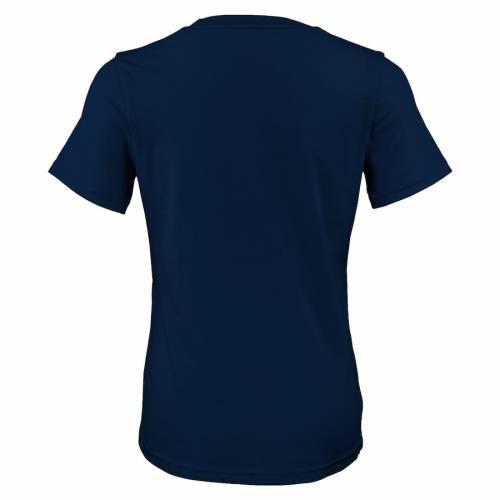 OUTERSTUFF レディース ロゴ ブイネック Tシャツ 紺 ネイビー レディースファッション トップス カットソー 【 New York Subliners Womens Primary Logo V-neck T-shirt - Navy 】 Navy