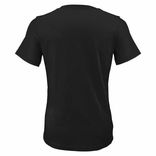 OUTERSTUFF ミネソタ レディース ロゴ ブイネック Tシャツ 黒 ブラック レディースファッション トップス カットソー 【 Minnesota Rokkr Womens Primary Logo V-neck T-shirt - Black 】 Black