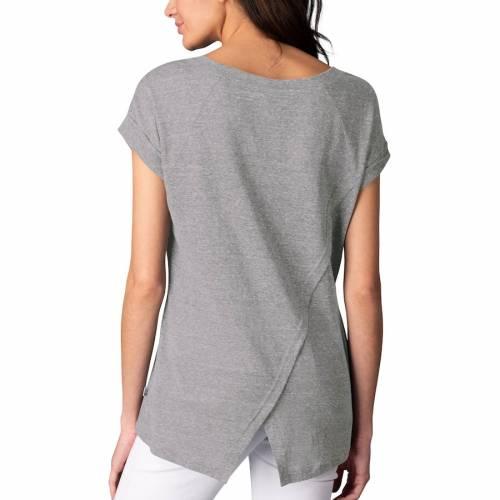 TOUCH ヤンキース レディース パワー ブイネック Tシャツ 灰色 グレー グレイ レディースファッション トップス カットソー 【 New York Yankees Womens Power Play V-neck T-shirt - Gray 】 Gray