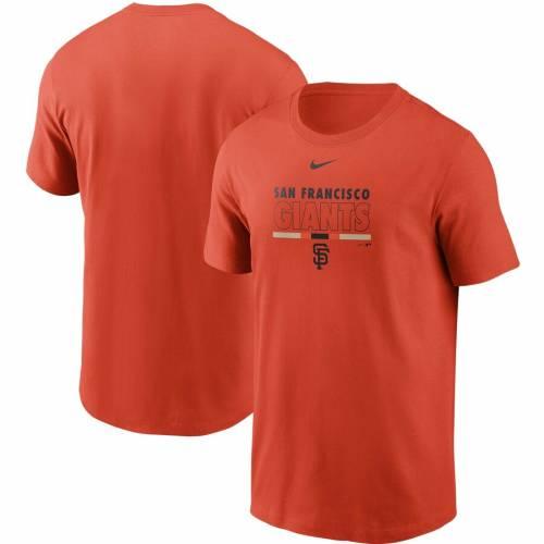 ナイキ NIKE ジャイアンツ Tシャツ 橙 オレンジ 【 ORANGE NIKE SAN FRANCISCO GIANTS COLOR BAR TSHIRT 】 メンズファッション トップス Tシャツ カットソー