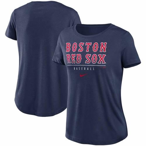 即日発送 ナイキ NIKE ボストン 赤 レッド レディース クラブ パフォーマンス Tシャツ 紺色 ネイビー レッドソックス WOMEN&39;S 【 RED NIKE CLUB LETTERING ESSENTIAL TRIBLEND PERFORMANCE TSHIRT NAVY 】 レディースファ, 山之口町 d56ba0b3