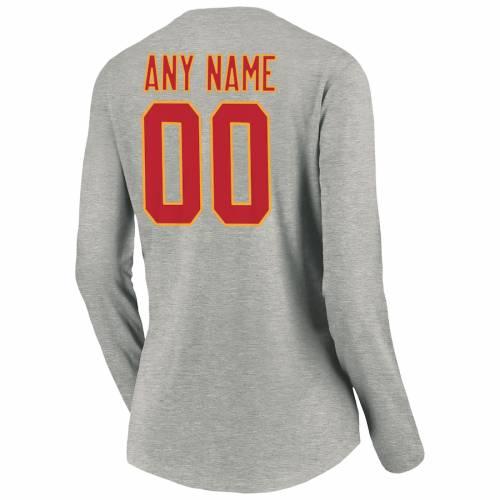 NFL PRO LINE BY FANATICS BRANDED カンザス シティ チーフス プロ レディース スリム スリーブ ブイネック Tシャツ ヘザー 灰色 グレー グレイ レディースファッション トップス カットソー 【 [cu