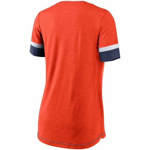 ナイキ NIKE ヒューストン アストロズ レディース ロゴ パフォーマンス ブイネック Tシャツ 橙 オレンジ レディースファッション トップス カットソー 【 Houston Astros Womens Mesh Logo Fashion Pe