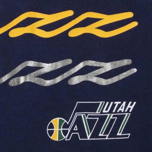 G-III 4HER BY CARL BANKS ユタ ジャズ レディース パワー ブイネック Tシャツ 紺 ネイビー レディースファッション トップス カットソー 【 Utah Jazz Womens Power Forward Foil V-neck T-shirt - Navy 】 Navy