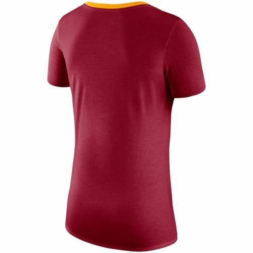 ナイキ NIKE レディース パフォーマンス ブイネック Tシャツ 赤 カーディナル レディースファッション トップス カットソー 【 Usc Trojans Womens Performance Tri-blend V-neck T-shirt - Cardinal 】 Cardina