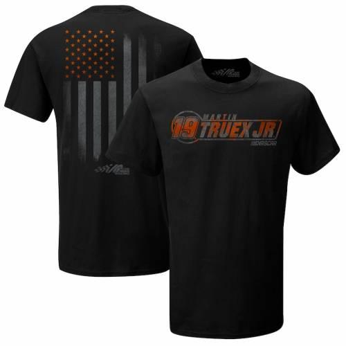 JOE GIBBS RACING TEAM COLLECTION Tシャツ 黒 ブラック メンズファッション トップス カットソー メンズ 【 Martin Truex Jr Flag T-shirt - Black 】 Black