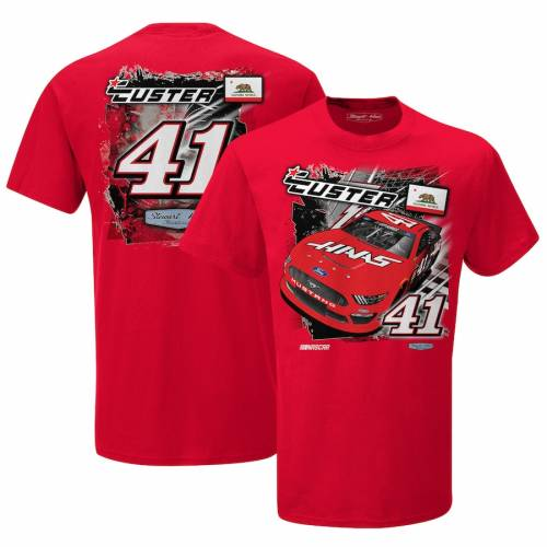 STEWART-HAAS RACING TEAM COLLECTION チーム コレクション Tシャツ 赤 レッド 【 TEAM RED STEWARTHAAS RACING COLLECTION COLE CUSTER BACKSTRETCH DRIVER TSHIRT 】 メンズファッション トップス Tシャツ カットソー