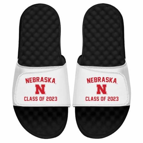 ISLIDE サンダル 白 ホワイト 【 SLIDE WHITE ISLIDE NEBRASKA CORNHUSKERS CLASS OF 2023 SANDALS 】 メンズ サンダル スポーツサンダル