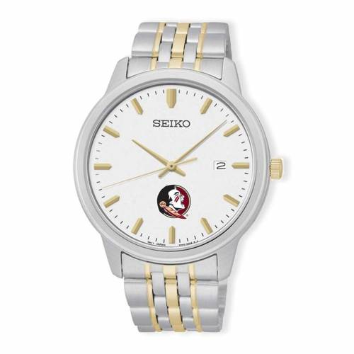 SEIKO フロリダ スケートボード ブレスレット ウォッチ 時計 銀色 シルバー 金色 ゴールド 【 STATE WATCH SILVER SEIKO FLORIDA SEMINOLES PRIME BRACELET GOLD 】 腕時計 メンズ腕時計