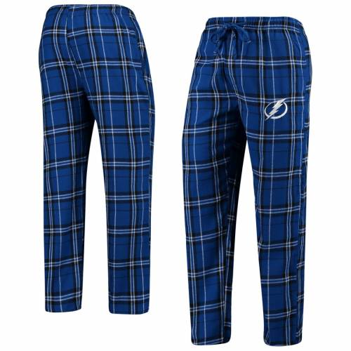 CONCEPTS SPORT インナー 下着 ナイトウエア メンズ ナイト ルーム パジャマ 【 Tampa Bay Lightning Big And Tall Hillstone Pants - Blue/black 】 Blue/black