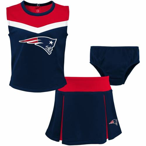 OUTERSTUFF ペイトリオッツ ベビー 赤ちゃん用 赤ちゃん 幼児 キッズ マタニティ ジュニア 【 New England Patriots Girls Toddler Two-piece Spirit Cheerleader Set With Bloomers - Navy/red 】 Navy/red