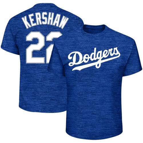 PROFILE ドジャース Tシャツ メンズファッション トップス カットソー メンズ 【 Clayton Kershaw Los Angeles Dodgers Big And Tall Name And Number T-shirt - Heathered Royal 】 Heathered Royal