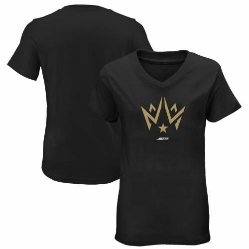 OUTERSTUFF ダラス レディース ロゴ ブイネック Tシャツ 黒 ブラック レディースファッション トップス カットソー 【 Dallas Empire Womens Primary Logo V-neck T-shirt - Black 】 Black