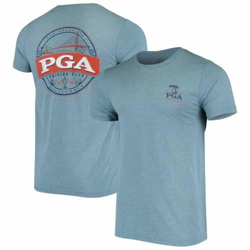 AHEAD Tシャツ 青 ブルー 【 BLUE AHEAD 2020 PGA CHAMPIONSHIP GOLDEN GATE BRIDGE EVENT TRIBLEND TSHIRT 】 メンズファッション トップス Tシャツ カットソー