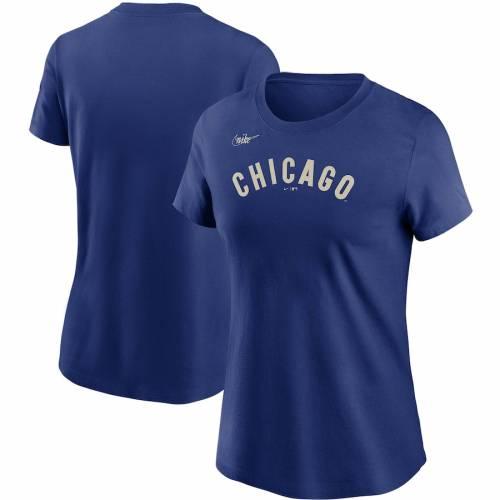 ナイキ NIKE シカゴ カブス レディース クーパーズタウン コレクション Tシャツ レディースファッション トップス カットソー 【 Chicago Cubs Womens Cooperstown Collection Wordmark T-shirt - Royal 】 Roy