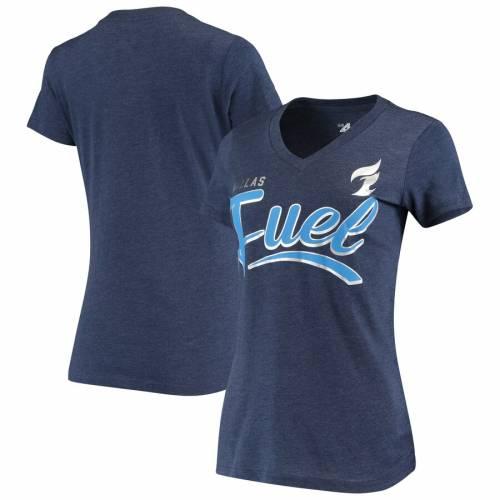 G-III 4HER BY CARL BANKS ダラス レディース チーム スクリプト ブイネック Tシャツ 紺 ネイビー レディースファッション トップス カットソー 【 Dallas Fuel Womens Team Script V-neck T-shirt - Navy 】 Nav