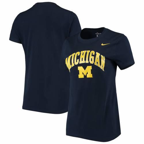 ナイキ NIKE ミシガン レディース パフォーマンス Tシャツ 紺 ネイビー レディースファッション トップス カットソー 【 Michigan Wolverines Womens Arch Performance T-shirt - Navy 】 Navy