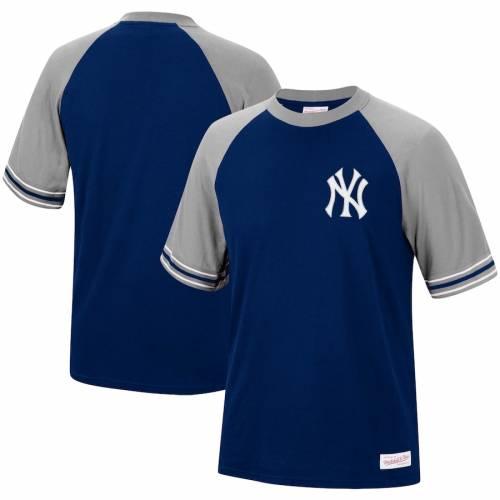 ミッチェル&ネス MITCHELL & NESS ヤンキース チーム ラグラン Tシャツ 紺 ネイビー メンズファッション トップス カットソー メンズ 【 New York Yankees Mitchell And Ness Team Captain Raglan T-shirt - N