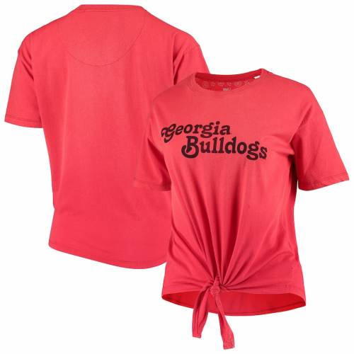 PRESSBOX レディース カリフォルニア Tシャツ 赤 レッド レディースファッション トップス カットソー 【 Georgia Bulldogs Womens California Dreamin Ombre Tie T-shirt - Red 】 Red