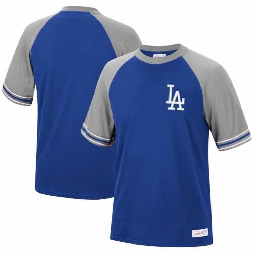 ミッチェル&ネス MITCHELL & NESS ドジャース チーム ラグラン Tシャツ メンズファッション トップス カットソー メンズ 【 Los Angeles Dodgers Mitchell And Ness Team Captain Raglan T-shirt - Royal 】 Royal